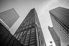 汉考克大厦在芝加哥,伊利诺伊,美国 库存照片