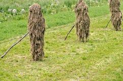 干草堆在罗马尼亚 图库摄影