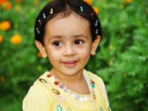 女孩愉快的小的幼稚园 免版税库存图片
