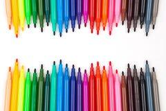 颜色笔 图库摄影