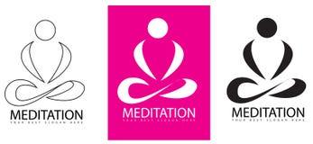 Логотип йоги раздумья Стоковое фото RF