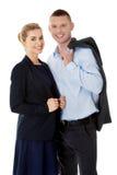 成功企业的夫妇 免版税图库摄影