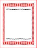 Πλαίσιο για τα κόκκινα χρώματα κεντητικής διαγώνιος-βελονιών Στοκ φωτογραφία με δικαίωμα ελεύθερης χρήσης
