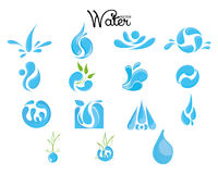 Комплект значка воды Стоковая Фотография RF