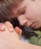 儿童祈祷 免版税库存图片