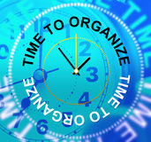 Время организовать управление выставок аранжирует и организация Стоковая Фотография