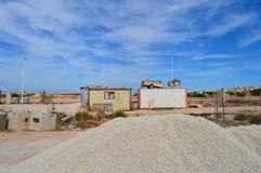 一个建筑工地在西班牙 免版税库存照片