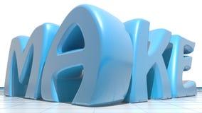 Сделайте синь Стоковое Изображение RF