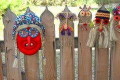 传统罗马尼亚面具 免版税库存照片