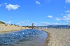 Река пляжа лета Стоковое Изображение RF