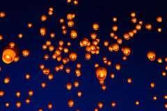 天空灯节在台湾 库存图片