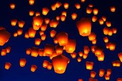 天空灯节在台湾 免版税图库摄影