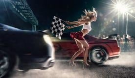 Старт гонок улицы Стоковое Фото