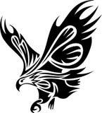 部族老鹰的纹身花刺 免版税库存照片