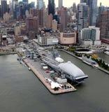 Воздух моря Нью-Йорка бестрепетные и музей космоса Стоковое Изображение