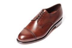 Крупный план кожаных ботинок людей Стоковые Фотографии RF