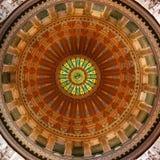 国会大厦伊利诺伊圆形建筑的状态 免版税图库摄影
