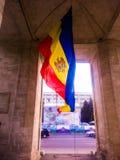 摩尔多瓦旗子 图库摄影