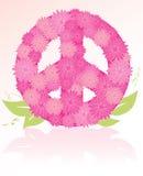 花束花和平标志 免版税库存图片