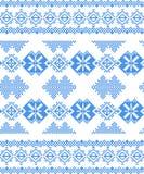 Κεντημένο χειροποίητο εθνικό σχέδιο διαγώνιος-βελονιών Στοκ φωτογραφία με δικαίωμα ελεύθερης χρήσης