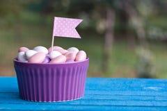 糖果上漆的糖 免版税库存照片