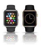聪明的手表银和金子颜色 免版税库存照片