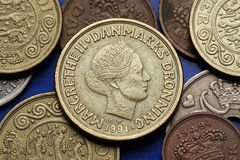 Монетки Дании Стоковое Фото