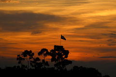 Через золотой момент после заходящего солнца Стоковые Фото