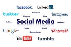 束起通信有概念的交谈媒体人社交 免版税库存图片