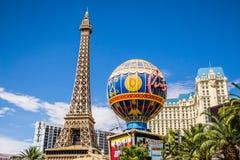赌场酒店巴黎 免版税库存照片