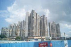 广东中山,中国:住宅区和公路交通 图库摄影