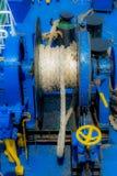 绳索被栓对船锚 免版税库存图片