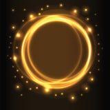 Абстрактная предпосылка, желтые накаляя круги Стоковые Фото