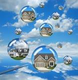 тревоги рынка недвижимости Стоковое фото RF