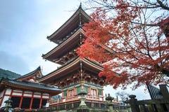 清水寺寺庙门在京都,日本 库存照片