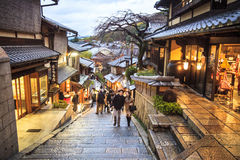 清水寺寺庙门在京都,日本 免版税图库摄影