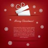 与圣诞节礼物的圣诞卡 免版税库存图片