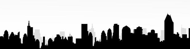 都市风景剪影传染媒介 免版税图库摄影