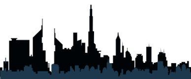 都市风景剪影传染媒介 免版税库存照片
