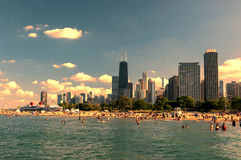 北部大道海滩芝加哥 图库摄影