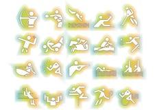 ζωηρόχρωμο διάνυσμα αθλητικών συμβόλων Στοκ Εικόνες