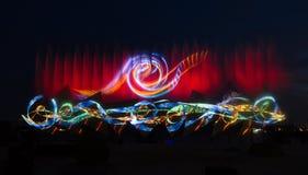时间展示翼在新加坡 图库摄影