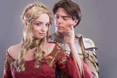Средневековые любовники Стоковое Фото