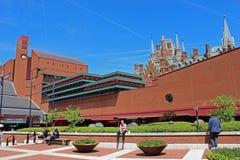 Βρετανική βιβλιοθήκη, Λονδίνο Στοκ εικόνα με δικαίωμα ελεύθερης χρήσης