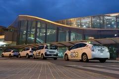 出租汽车在机场 图库摄影