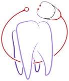 牙齿诊所商标 免版税库存照片