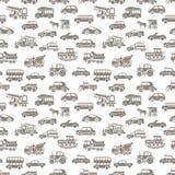 Картина автомобиля вектора безшовная Стоковая Фотография