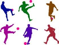 男孩橄榄球 免版税图库摄影