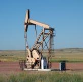 泵浦工作油在南达科他 免版税库存照片