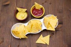 烤干酪辣味玉米片从 免版税库存照片